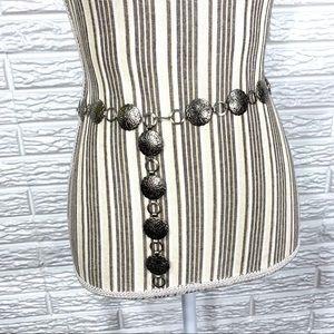 Thin Decorative Silver Belt